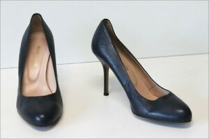 Laura coste atelier Court Shoes all Leather Blue Petrol T 38 Top Condition