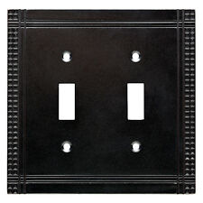 W32744-SI Mission Double Switch Soft Iron Cover Plate