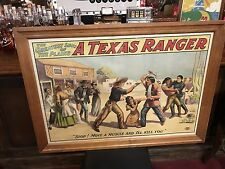 "1904 ""A TEXAS RANGER"" Theatrical Playhouse Lithograph Poster  ""Watch Video"""
