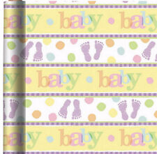 "BABY WRAPPING PAPER ROLL GIFT WRAP ANY OCCASION 30"" x 5' NEW"