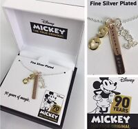 """Disney Mickey Necklace 90 Years Of Magic Charm Limited Edition Collection 18"""""""