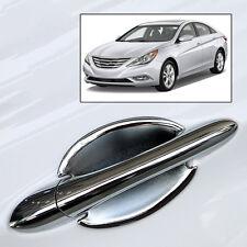 For 2011-2014 Hyundai Sonata i45 Chrome Door Handle Bowl Cap Cover Trim Molding
