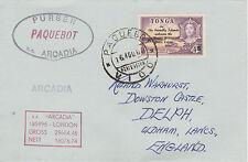 Tonga 4480 - Used in VIGO, SPAIN  1 968  PAQUEBOT cover to UK