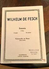 Wilhelm De Fesch Sonata F Major. Cello & Piano.(Moffat) EE3105.