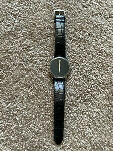 Womens Movado Museum Classic Swiss Quartz Watch Black 28mm