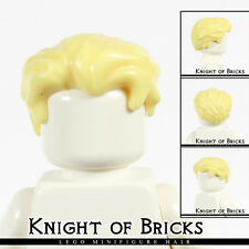LEGO Minifigure Hair YELLOW 25972 Male Boy Swept Back Widow's Peak Side