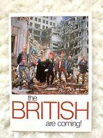 The British Are Coming Vintage Postcard 1986 London England Punker Punk Rock HTF