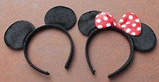 Minnie Mouse and Mickey Mouse Soft Foam Ears on Headband, Girls Boys UK