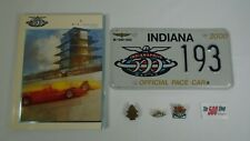 2000 Indianapolis 500 Program Pace Car Plate Bronze Pit Badge Event & Track Pin