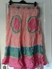 PINK AND WHITE SKIRT, SIZE LARGE