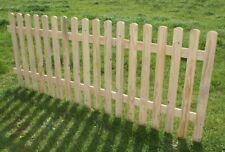 Recinzione staccionata in legno naturale steccato giardino misura 100cmx100