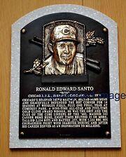 Ron Santo Cubs 1960-73 White Sox 1974 HOF'er 2012 HOF Plaque Color 8x10
