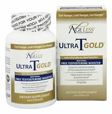 Ageless Foundation Ultra T Gold All-Natural Free Testosterone Booster 60 Caps