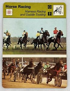 1977-79 Sportscaster Card-Horse Racing (#20-04)-Harness Racing & Saddle Trotting
