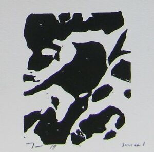 JOSE TRUJILLO - Artist Woodcut Print Relief Prints ORIGINAL Bird Art  - Series 1