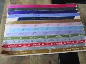 Tissus collector,Luxe&marque-Lot,Christofle,Fauchon,Lenotre,Ladurée,Puiforcat...