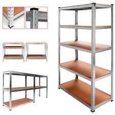 Estanteria metalica galvanizada 875kg 5 baldas 180 X 90 X 40 cm ideal garaje 47005355ca51