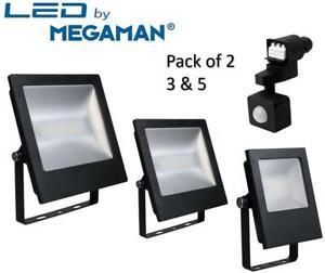 Outdoor LED Floodlight 9.5W 24W 45W PIR Motion Sensor 4000K Pack 2 3 5