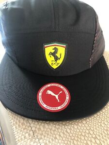 Ferrari Motorsport Fan wear Peaked Cap In Black One Size Fits All
