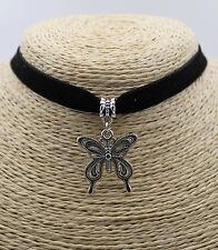 Large Butterfly Retro Silver Fashion Pendant Choker Collar Bib Necklace 1PC #01
