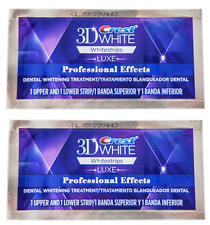 3D CREST Whitestrips LUXE Professional Effects 2 Pouch= 4 Strips Teeth Whitening