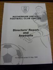 31/05/1995 Rotherham United Football Club: directores informe y cuentas para el