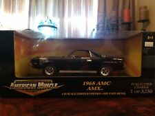 NEW ERTL 1/18 1968 AMC AMX Black (1 of 3750) Serialized Chassis LIMITED EDITION