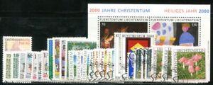 LIECHTENSTEIN 2000 1224-1254,BLOCK17 gestempelter JAHRGANG 96€(I1850