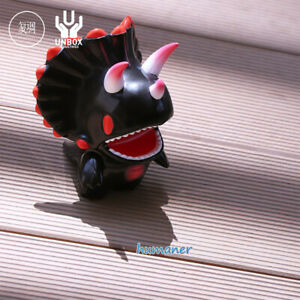 Unbox Tri Dino Solid Black Triceratops Cute Character Figure Limited Model Toy