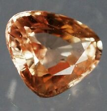 1.14ct. Triangular AGL Certified UNHEATED SAPPHIRE Rich Luster, Orange-Yellow