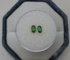 Green Chrome Diopside Oval Gem Loose Faceted Pair 5x3mm