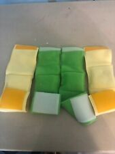4-MALE DOG BELLY BANDS LEAK PROOF  GREEN & YELLOW