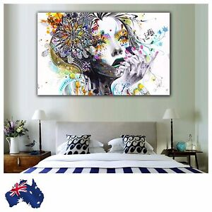 50x85cm Canvas Painting Modern Abstract Wall Picture + Extra 5cm White Edge