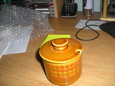 Hornsea saffron 1970's john clappison lided preserve pot vintage collectable