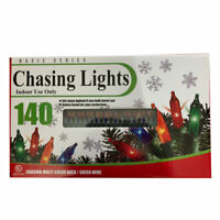 (140 Set) Basic Series Multi Color Christmas Deco Chasing Lights Indoor String