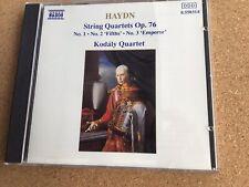 Haydn: String Quartets Op 76, Nos 1, 2 & 3. Kodaly Quartet. Naxos Digital 1989.