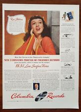 1942 Columbia Records Rise Stevens Opera Soprano Color Photo Vintage Print Ad