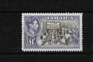 Jamaica 1938 KGVI tobacco industry £1 LMM (J046)