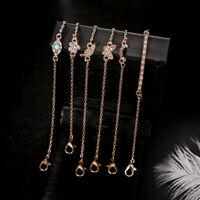 Jewelry Crystal Beaded Bracelet Friendship Tiny Bracelet Chain Bangle  Cuff D