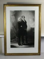 1851 finely framed engraving of Peel + Wellington | once owned by Queen Victoria