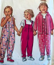 USED & VINTAGE 'NEW LOOK' OVERALLS/JACKETS SEWING PATTERN 6439 SIZES 1-4 YRS
