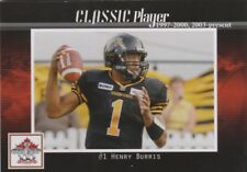 HENRY BURRIS HAMILTON TIGER-CATS (TEMPLE OWLS)  CFL GREY CUP 100TH ANNIV CARD