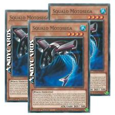 3x SQUALO MOTOSEGA • (Buzzsaw Shark) • Comune • ETCO IT019 • Yugioh! • ANDYCARDS