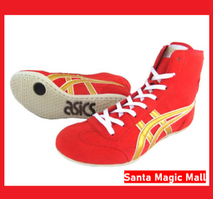 asics Wrestling shoes EX-EO TWR900 Red Gold JAPAN / Boxing shoes
