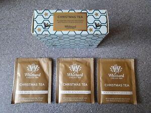 Whittard Christmas Tea, 3 tea bags, black tea infused flavours of spice + citrus
