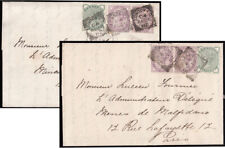 SG164, SG165 & SG172a 1882 June & August. Two fine, uncreased entires, London...