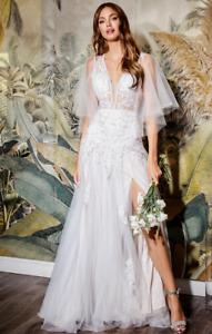 Cinderella Divine CB070 Layered A-Line Wedding Gown Off-White