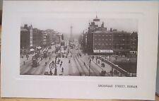 Irish Rppc Postcard Dublin Ireland Sackville Street O'Connell Eyre Spottiswoode