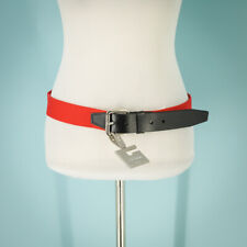 Nike Golf Size XL Belt Leather Cotton Woven Tour Edition Black Red Adjustable