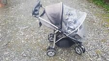 Mama's & Papa's Pram Pushchair Including Raincover in Grey & Red Trim
